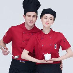100% coton Veste de Cuisine Uniforme de travail s'adapter avec tablier K