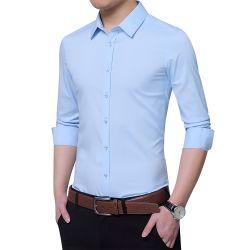 人のための最上質の美しく純粋で形式的で長い袖のワイシャツ