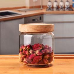 Küche-Kanister-freier Raum ringsum 3 oder 4 Stücke Glasimbiss-Zuckertee-Speicher-Glasglas-Set-