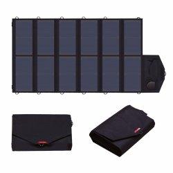 Los puertos de doble panel solar portátil 80W con cargador de celular Sunpower