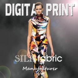 De digitale Chiffon van de Zijde van Af:drukken Textiel 100%, Georgette, Satijn, Keperstof (M002)