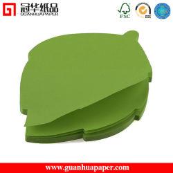 Fancy et personnalisé vert en forme de feuille de papier