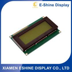 وحدة COG LCD موجبة للحرف الأخضر باللون الأصفر 20X4