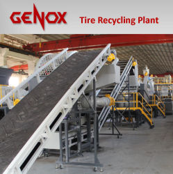 Afvalband kunststof Recycling machines machine Tire Crusher productielijn Rubberen kruimelmachine apparatuur Band Shredde