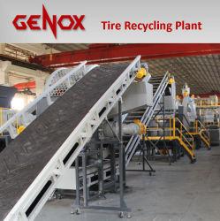 Les déchets de la machinerie de recyclage des pneus de la machine la ligne de production de concasseurs de pneus en caoutchouc des pneus d'équipement de la machine de meulage de la Miette Shredde