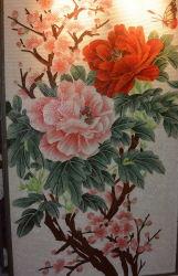 Customized Padrão de arte decoração design bonito mosaico de Flores Tile para parede