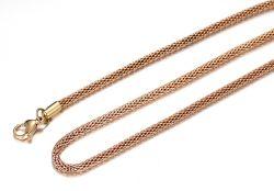 IP-GoldEdelstahl-Goldnetz-Kette mit Hummer-Faltenbildung