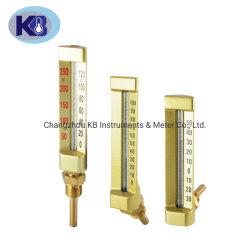 Морских промышленных Impa 6519/6520 Series V-образный горячей воды стеклянный термометр