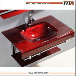 Meuble-lavabo/lavabo Salle de bains en verre/puits T-12