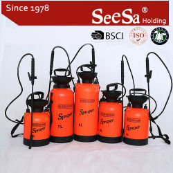8L 7L 5L 4L Seesa 플라스틱 원예용 도구 공기 압축 수동 펌프 손 압력 스프레이어