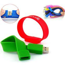 LED браслет на запястье полоса света на ночь браслет из ПВХ с USB