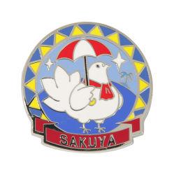 هدية ترويجية مسمار شعار معدني لشعار اللبان لرابيل إبوكسي المينا شارة مع قصبة الفراشة