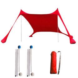 Portable carpa en la playa con arena ancla, la sombra de moda tienda de campaña, la sombrilla de playa con 100% Lycra protección UV13218 Esg