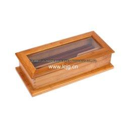 Los palillos de bambú para rack de soporte de caja de cubiertos, se establece en el hogar vajilla Organizador de madera