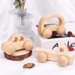 Appuyez sur Set voiture jouet en bois pour les enfants de 2 ans jusqu'pour l'éducation Montessori les véhicules en bois pour l'apprentissage préscolaire sida Baby Boys Girls tout-petits