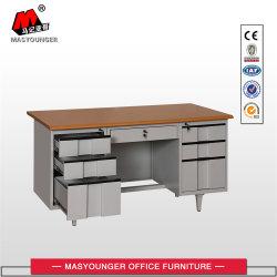 Houten Metalen Meubels Government Workstation Normaal Commercieel Gebruik 6 Lade Melamine Board Cumputer Bureau Tafel