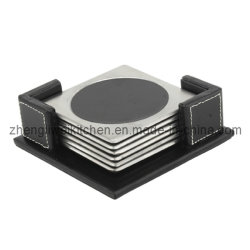 6 PCS Cup Coaster in Leather Caso (600019)