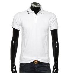 Camicia di polo di base dei 100 del cotone del piquè del tessuto degli uomini Yarn-Dyed del collare uomini di stile