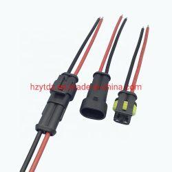 le serie di 1.5mm impermeabilizzano la femmina maschio 1 collegamenti automobilistici del connettore dell'automobile dei 2 3 4 5 6 perni