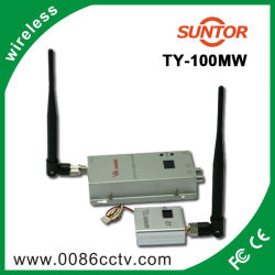 옥외 1.2g 15 Channels 100mw Portable Wireless AV Sender Receiver