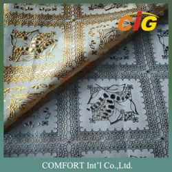 PVC coloré de la Dentelle Tablecloth Nice Poignée douce de surface avec beaucoup de dessins ou modèles beaucoup d'épaisseur