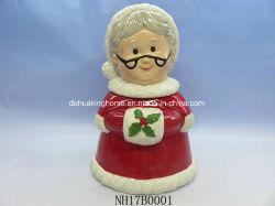 De ceramische Koekjestrommel van de Kerstman voor de Decoratie van Kerstmis