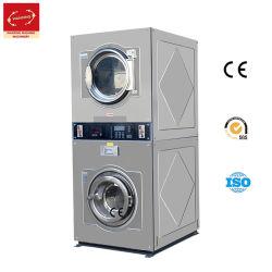 Double Stack de Monedas de autoservicio de lavandería/Washer-Extractor comercial de la máquina de pelo/Industrial/Lavado en Seco/Limpieza equipos para Hospital/Hotel
