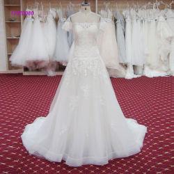 Bruids Kleding van het Kant van de Kokers van het Ontwerp van de vervaardiging de Korte een Toga van het Huwelijk van de Lijn