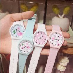 Silikon materielles Soem-Firmenzeichen kundenspezifische Quarz-Armbanduhr für Förderung (DC-99)