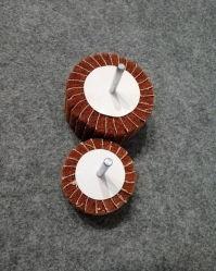 """Niet-geweven Afwerkkleppen wielen met 1 / 4"""" gemonteerd Stalen schacht"""
