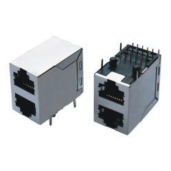 Verbinder RJ45 zu 2 gedruckte Schaltkarte USB-Jack
