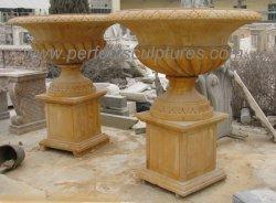 Classic sculpture en marbre sculpté à la main élégante fleur du semoir (QFP514)