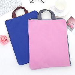ポリエステル文書袋、卸売の耐久の再使用可能で環境に優しい600dファブリックナイロン地下鉄A4 A3のオフィスのホールダービジネスメッセンジャーのラップトップファイルブリーフケース袋