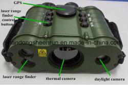 Térmica infrarroja portátil militar Binocular con GPS & Laser Telémetro