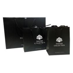 Cusomized Logo Printed Black Luxury Shopping Cadeauzakken