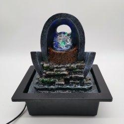 Поверхность стола Polyresin крытый фонтан с индикатором дома оформление
