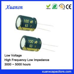 오디오 전력 공급을%s 63V 100UF 전해질 축전기