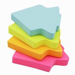 ロゴプリントおよび別の形の取り外し可能な粘着性があるノート