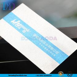 カスタマイゼーションの氷の特殊紙の名刺、名刺を作る白い名刺
