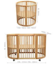 Culla di bambino rotonda di legno della greppia del bambino di standard europeo