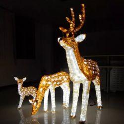 Акрил открытый рождественские украшения ручной работы под руководством Crystal оленей