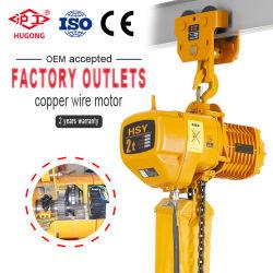 500kg de 1 tonne de 1,5 tonne 2 tonne 5t Construction palan électrique à chaîne avec la CE testé GS