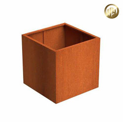 ラスティスクエアメタルガーデン植物花の POTS 箱プランター