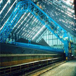 Уголь и древесный уголь закрыт зернохранилищ в стек и восстановление оборудования