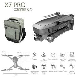 X7 PROGPS Hommel met 2-as Self-Stabilizing Gimbal van de anti-Schok Camera 4K HD 5g WiFi Fpv Brushless Quadcopter