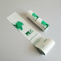 Биоразлагаемые Environment-Friendly мешок для мусора Bio-Based кукурузного крахмала стабилизатор поперечной устойчивости в сумке на бытовые кухонные отходы мешок для очистки