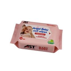 Airlaid biodégradable papier tissu humide de l'humidité des serviettes de table