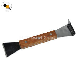 Новый корпус из нержавеющей стали Bee Hive инструмент долото с деревянной ручкой для Пчеловоду