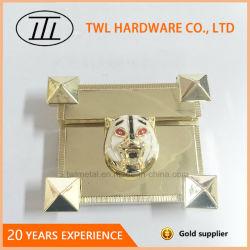 Serratura chiara di vibrazione dell'oro degli accessori del sacchetto del metallo con la tigre Hjw1575