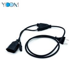 Séparateur de cordon d'extension de l'alimentation de l'UE Cordon d'alimentation Câble avec ordinateur portable